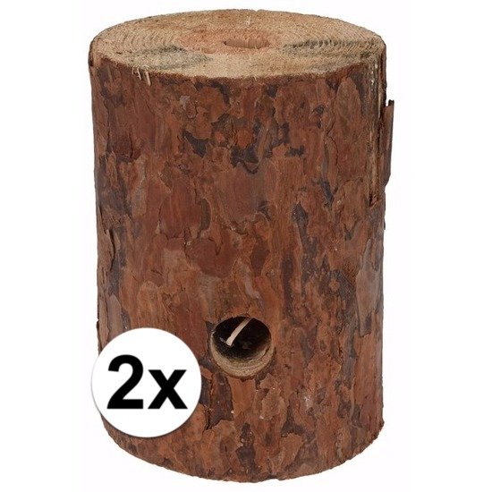 2x Zweedse fakkel 20 cm