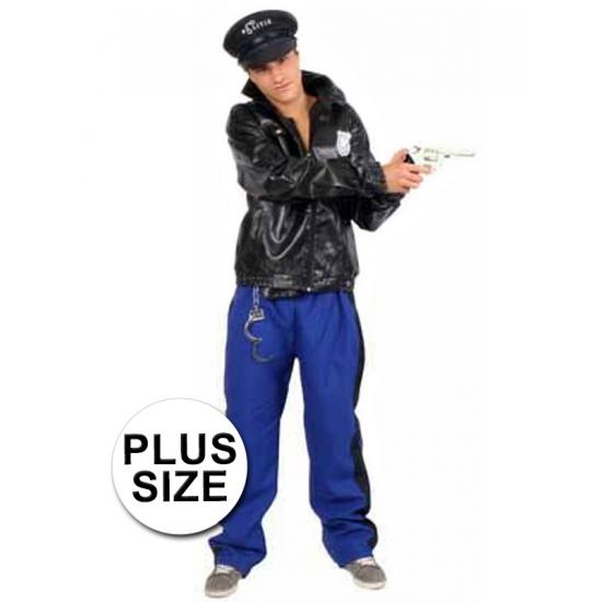 3-delig Grote Maten Politie Kostuum