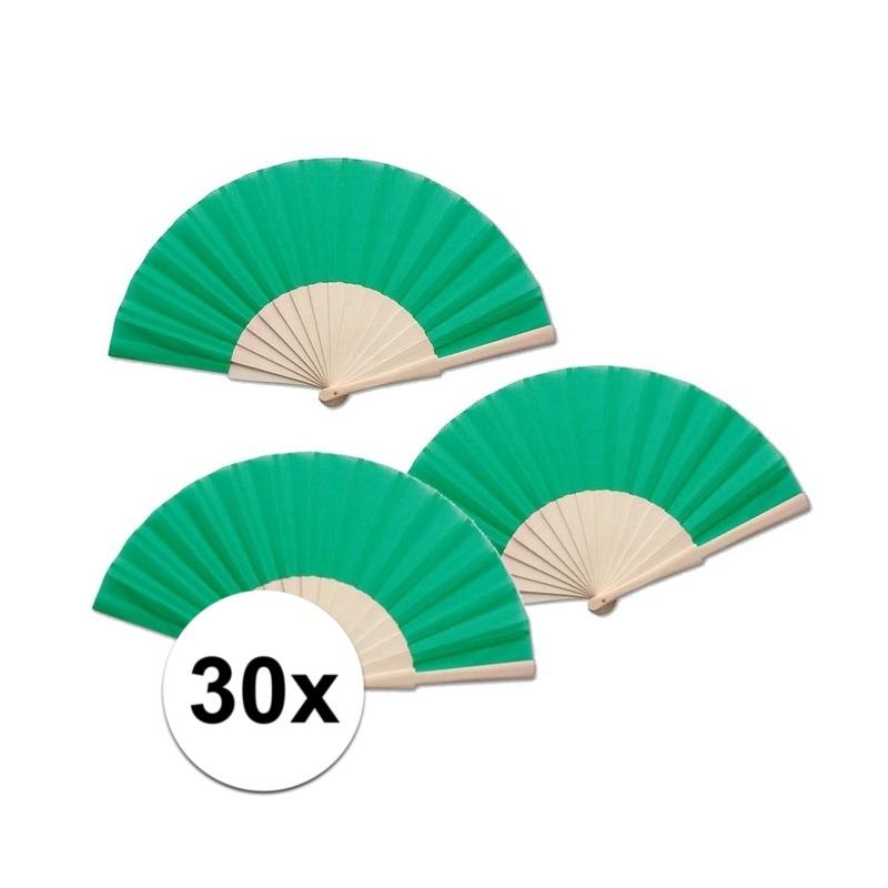 30 stuks Zomerse Spaanse waaier groen