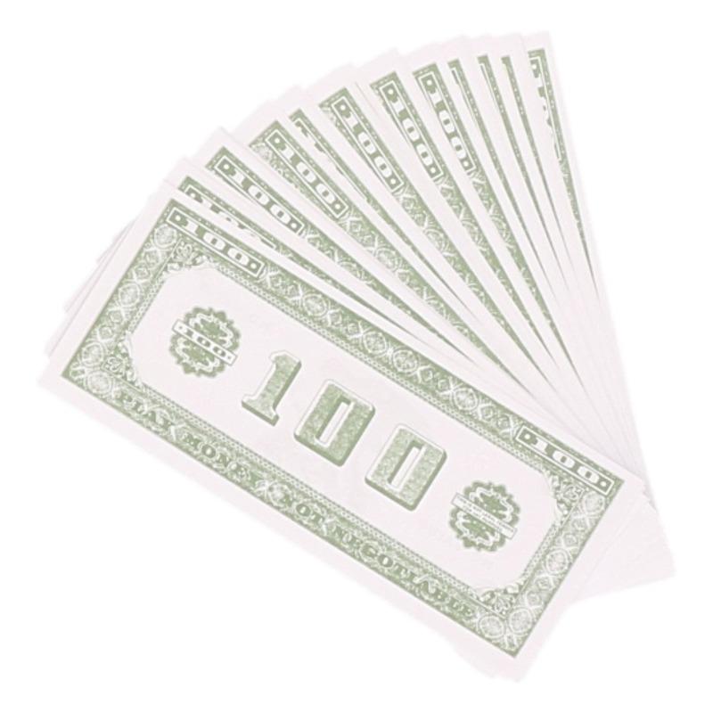 300x Speelgeld nep dollar biljetten van 100 dollar