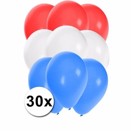 30x Ballonnen in Nederlandse kleuren