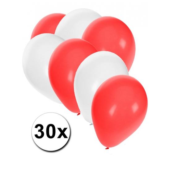 30x Ballonnen in Poolse kleuren