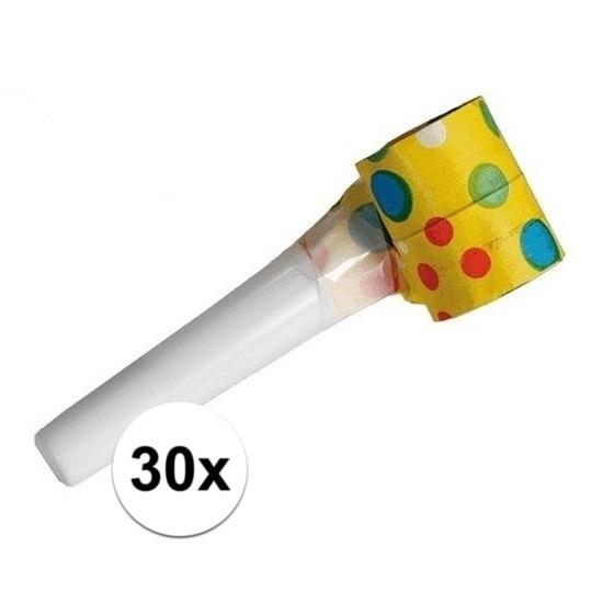 30x Papieren roltongen 35 cm