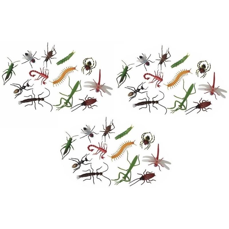 36x Plastic fop beestjes insecten