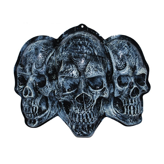 3D wanddecoratie schedels