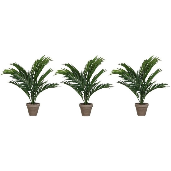 3x Areca palm kunstplanten groen 40 cm in pot