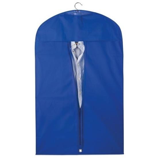 3x Blauwe kledinghoezen 100 x 60 cm
