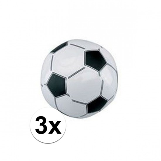 3x Opblaasbare voetballen strandbal