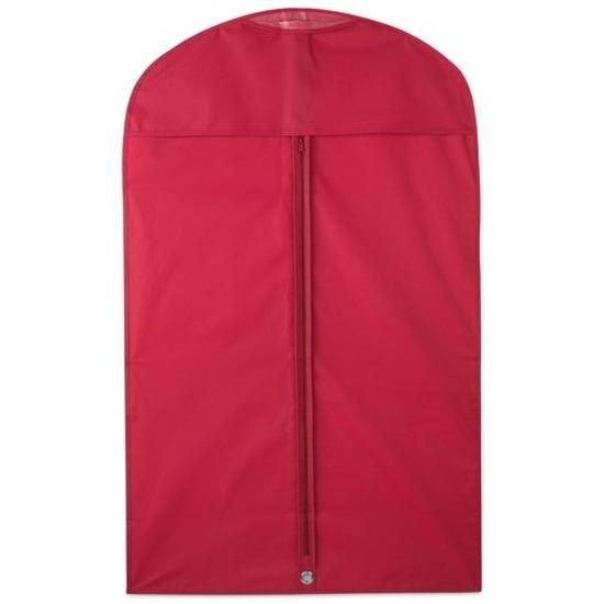 3x Rode kledinghoezen 100 x 60 cm