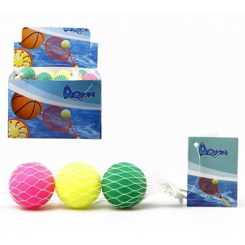 3x Strand tennis/beachball ballen