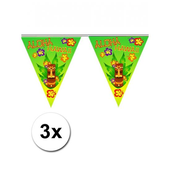 3x Vlaggenlijn hawaii 5 meter