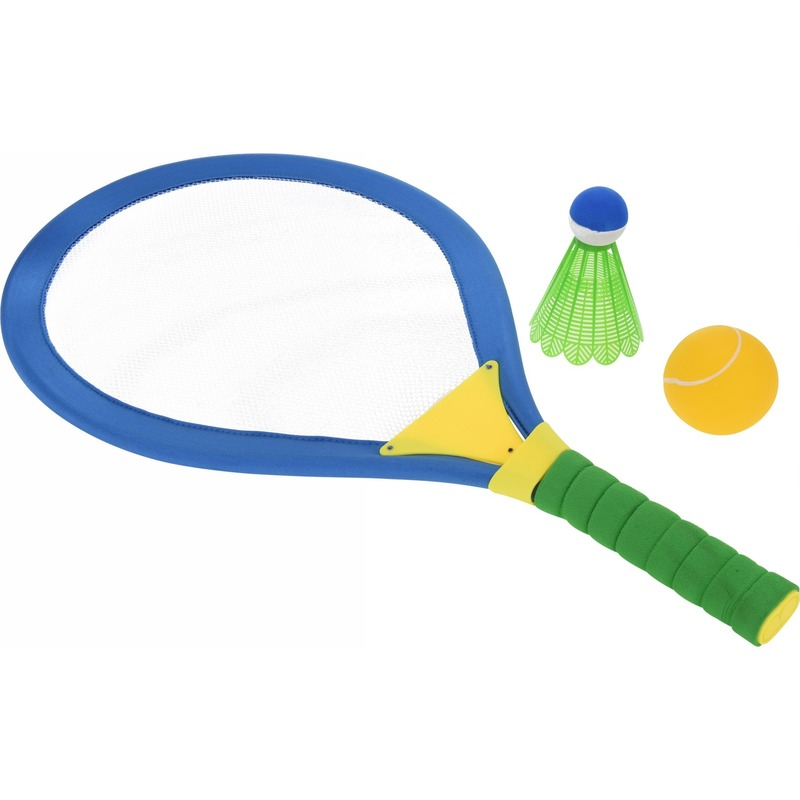 4-delige tennis/badminton set groot