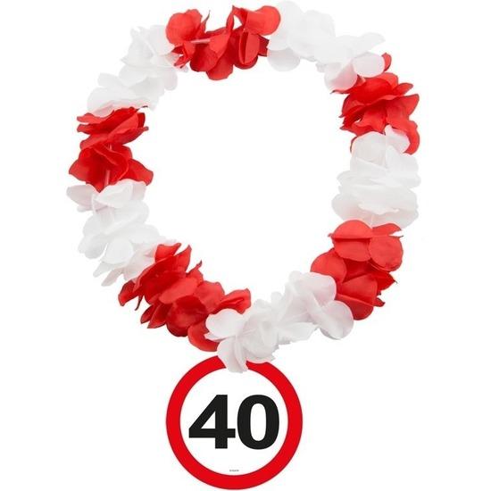 40 Jaar verkeersbord bloemenslinger