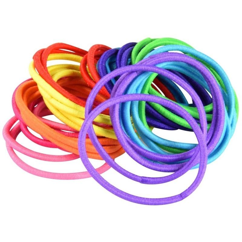 40x Gekleurde haarelastieken