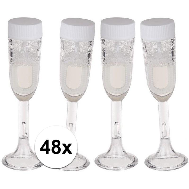 48x Bellenblaas champagne glas