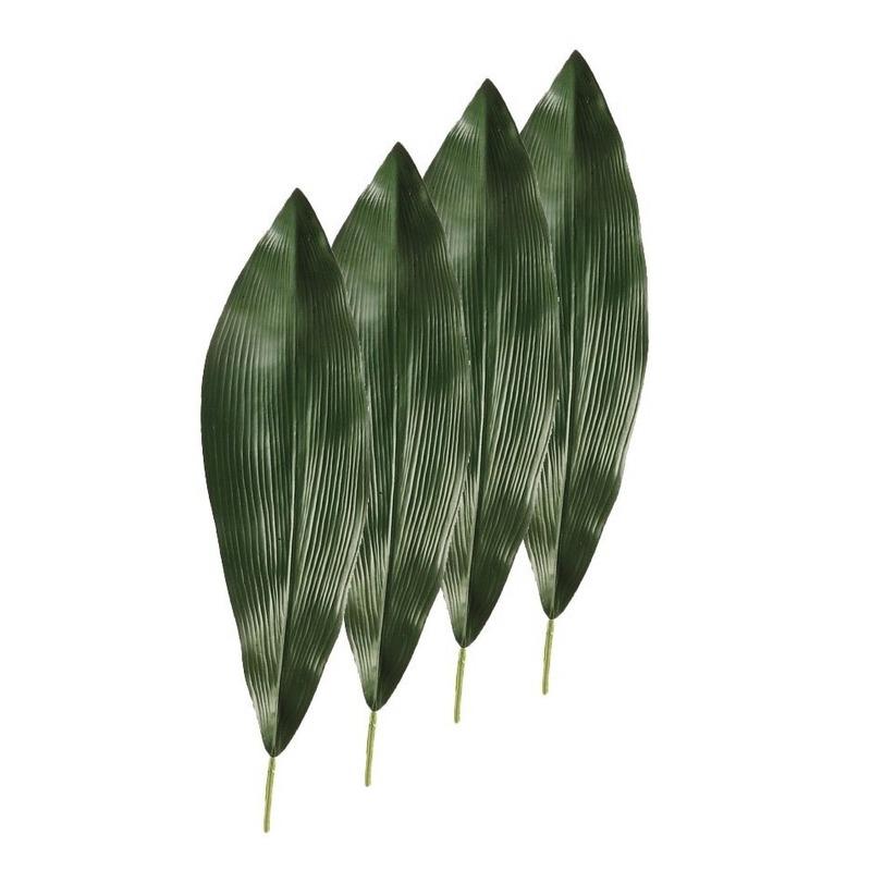 4x Kunstplant Aspidistra bladeren 75 cm donkergroen