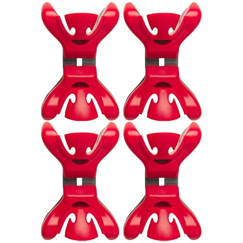 4x Slingers/decoratie ophangen slingerklemmen rood