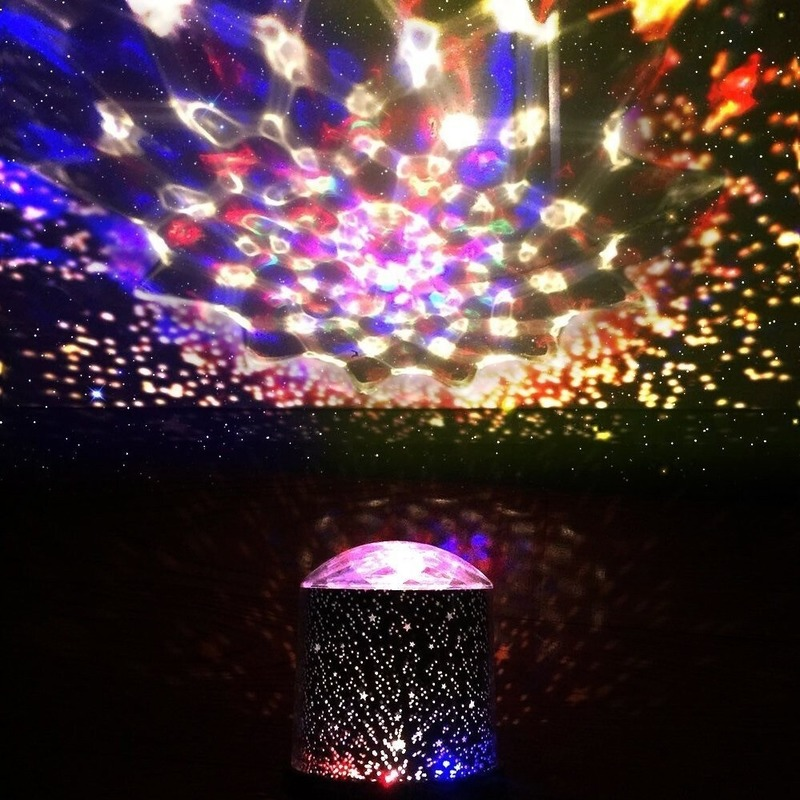 4x Sterrenprojector LED met verschillende kleuren 10 x 14 cm