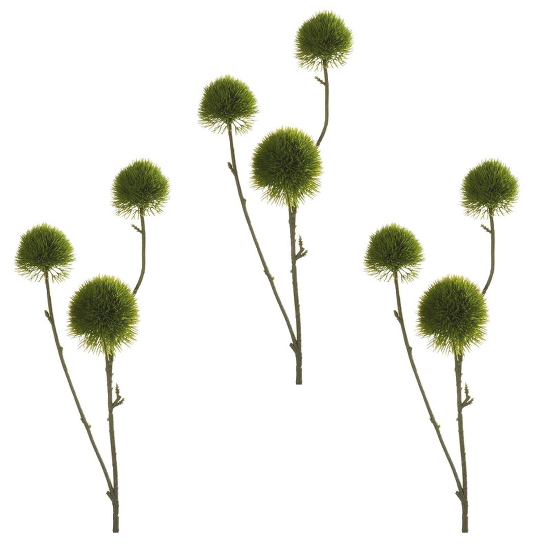 4x stuks kunstbloemen anjer takken 58 cm groen