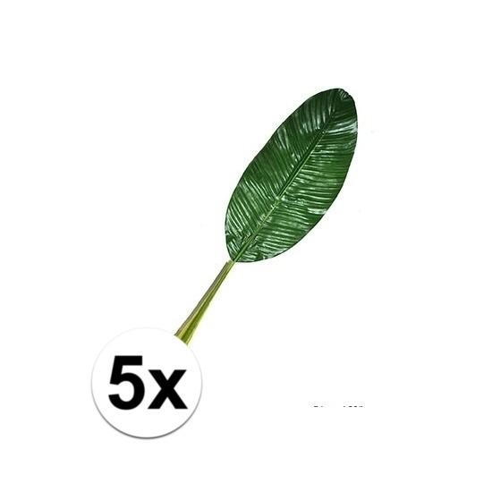 5 stuks kunst Bananen bladeren 74 cm