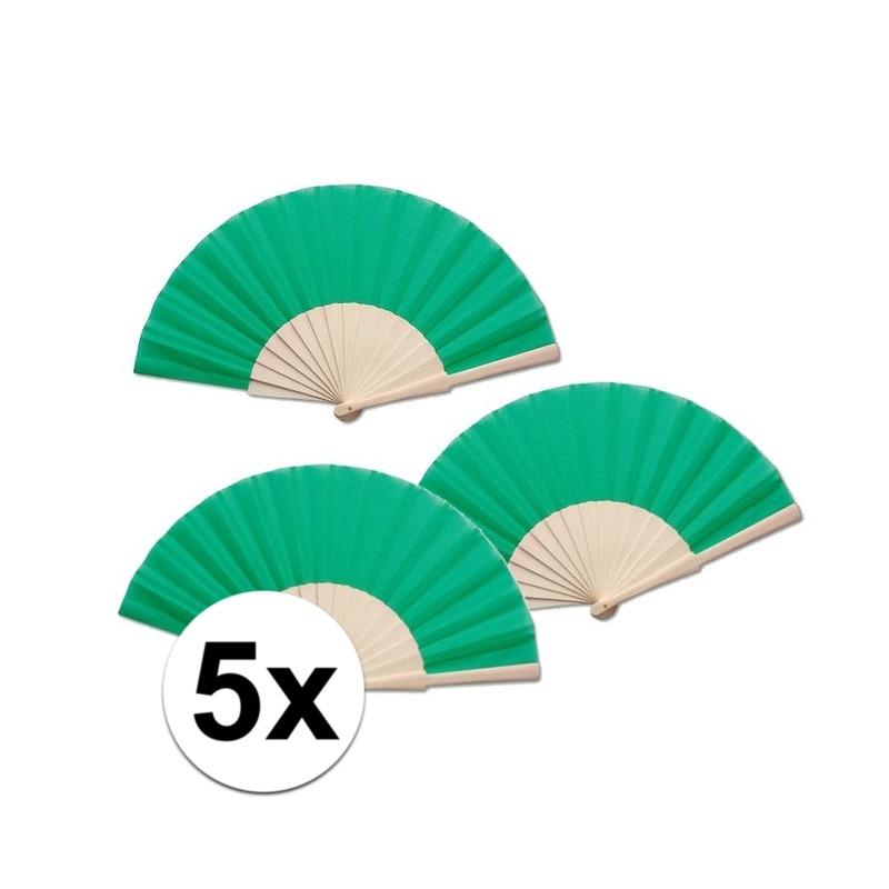 5 stuks Zomerse Spaanse waaier groen