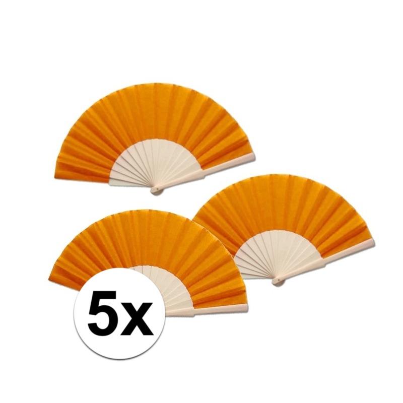 5 stuks zomerse Spaanse waaiers oranje