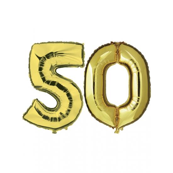 50 jaar getrouwd folie ballonnen goud