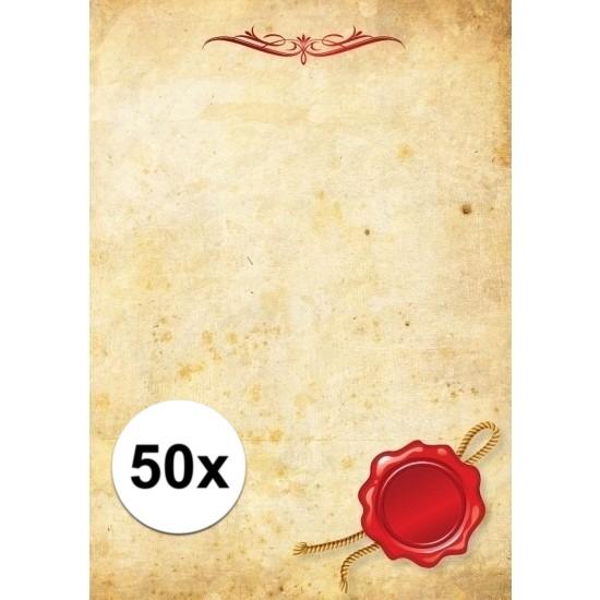 50x Perkament briefpapier