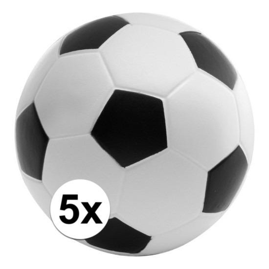 5x Anti-stressballen voetbal 6,1 cm