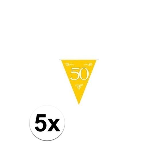 5x Jubileum vlaggenlijnen van 50 jaar
