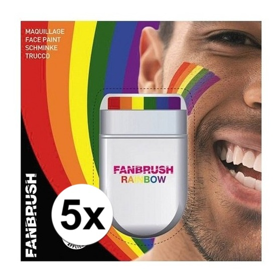 5x Regenboog schmink stift
