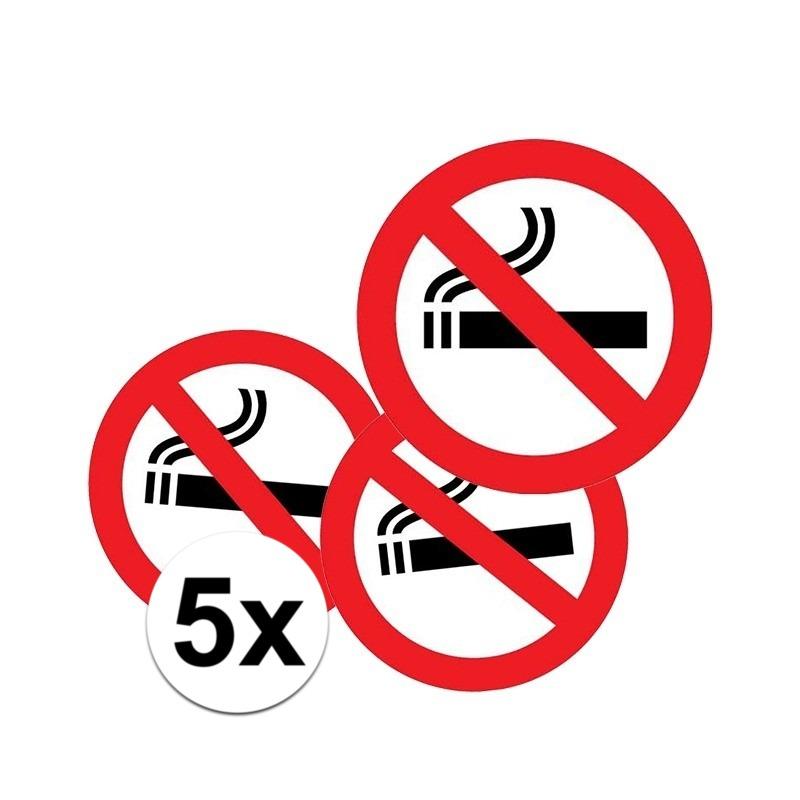 5x Sticker verboden te roken
