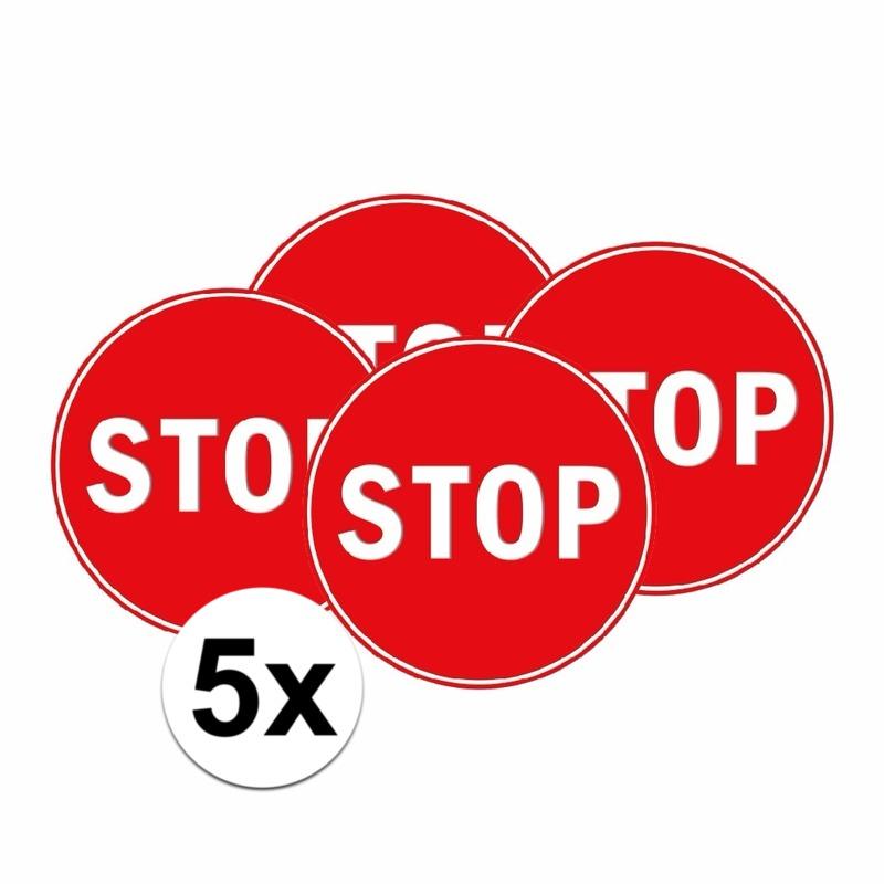 5x Stopbord stickers 15 cm