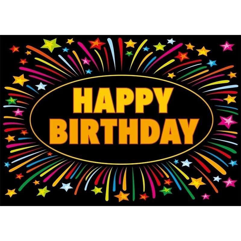 5x Verjaardag wenskaart Happy Birthday