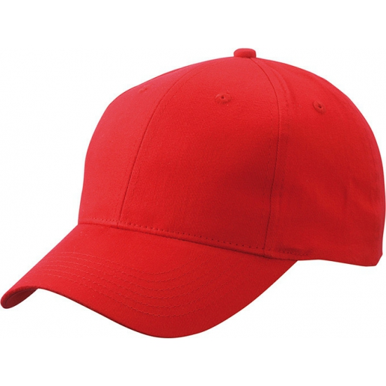 6 panel baseball cap rood