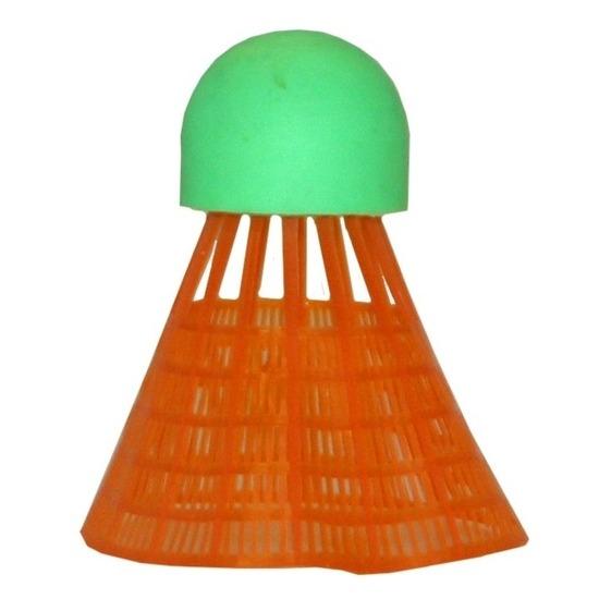 6x Badminton shuttles oranje