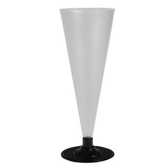 6x Champagne glazen mat transparant