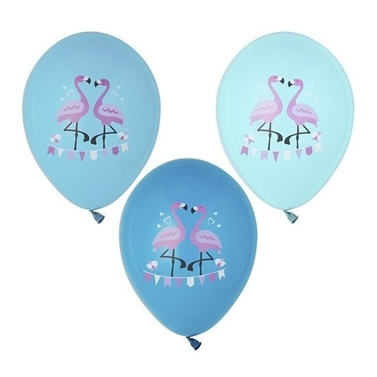 6x Flamingo print ballonnen 29 cm