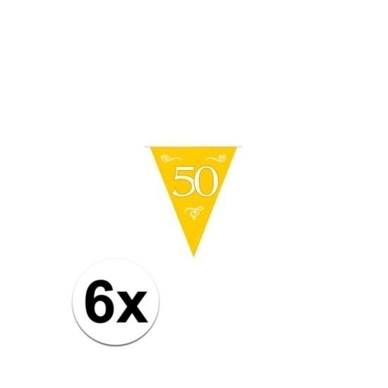 6x Jubileum vlaggenlijnen van 50 jaar