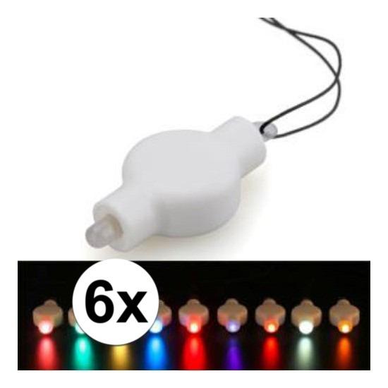 6x Lampion LED lampje multicolor