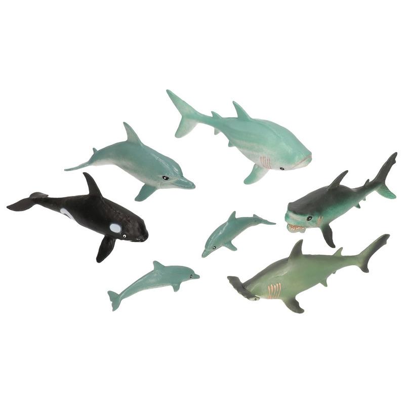 7x Speelgoed oceaan dieren