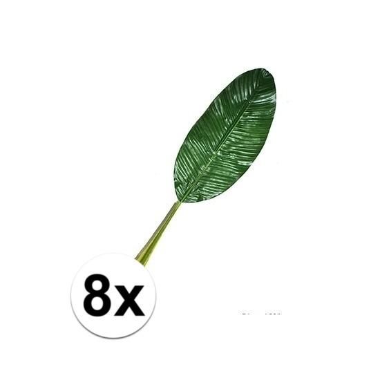 8 stuks kunst Bananen bladeren 74 cm