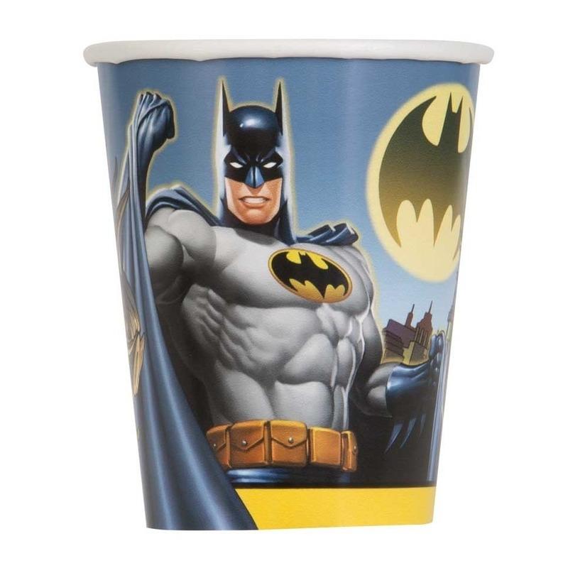 8x Batman themafeest drinkbekertjes