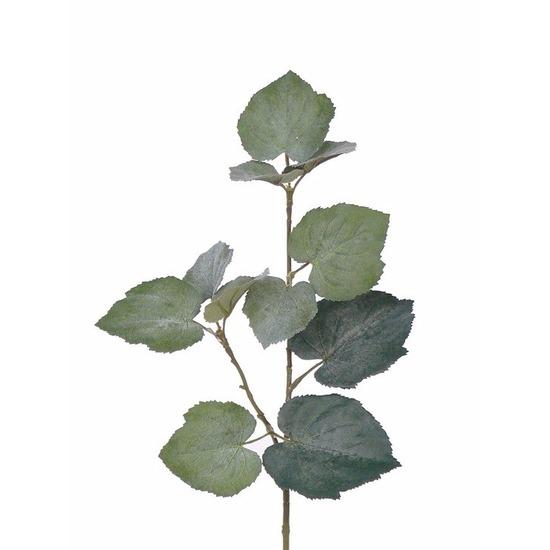 8x Kunstplant Linde Tilia bladgroen takken 50 cm groen