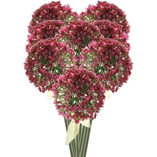 8x Roze/rode sierui kunstbloemen 70 cm