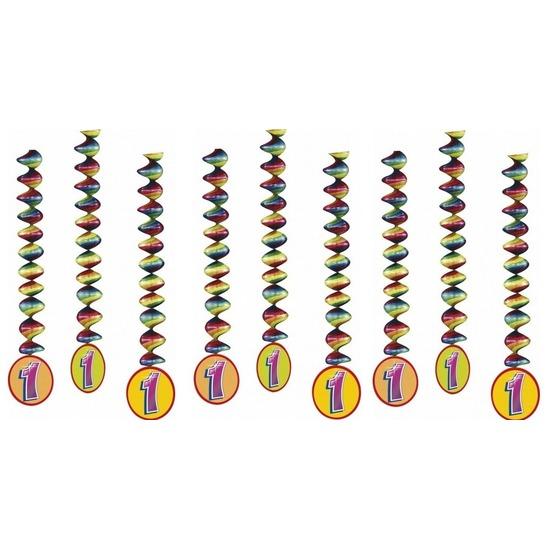9x Rotorspiralen 1 jaar versiering feestartikelen