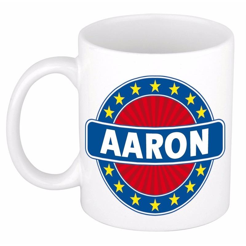 Aaron naam koffie mok - beker 300 ml