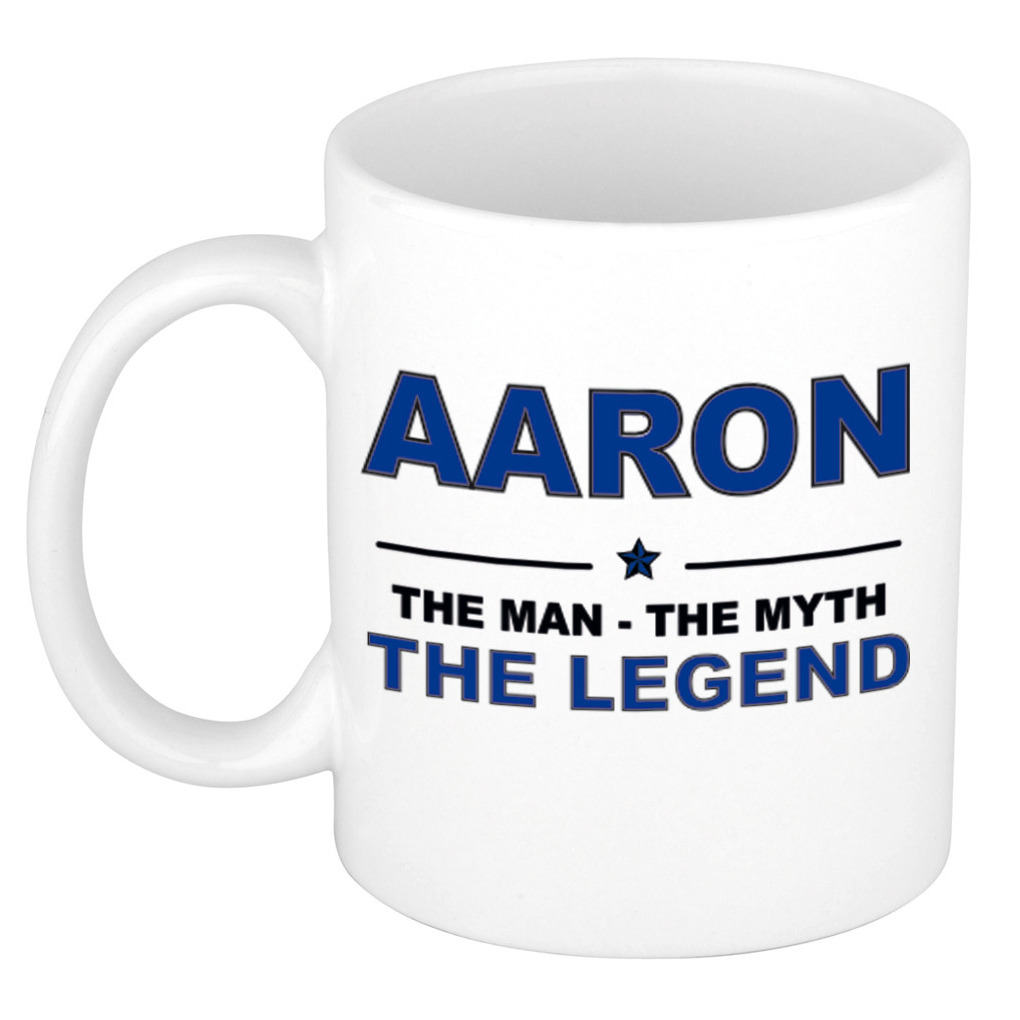 Aaron The man, The myth the legend cadeau koffie mok - thee beker 300 ml