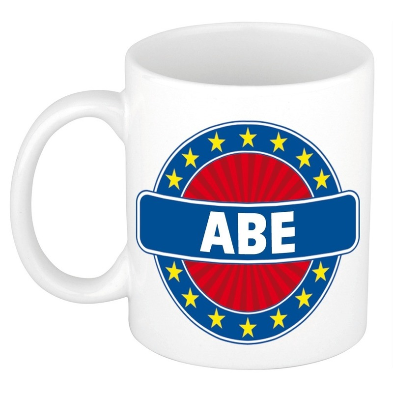 Abe naam koffie mok - beker 300 ml