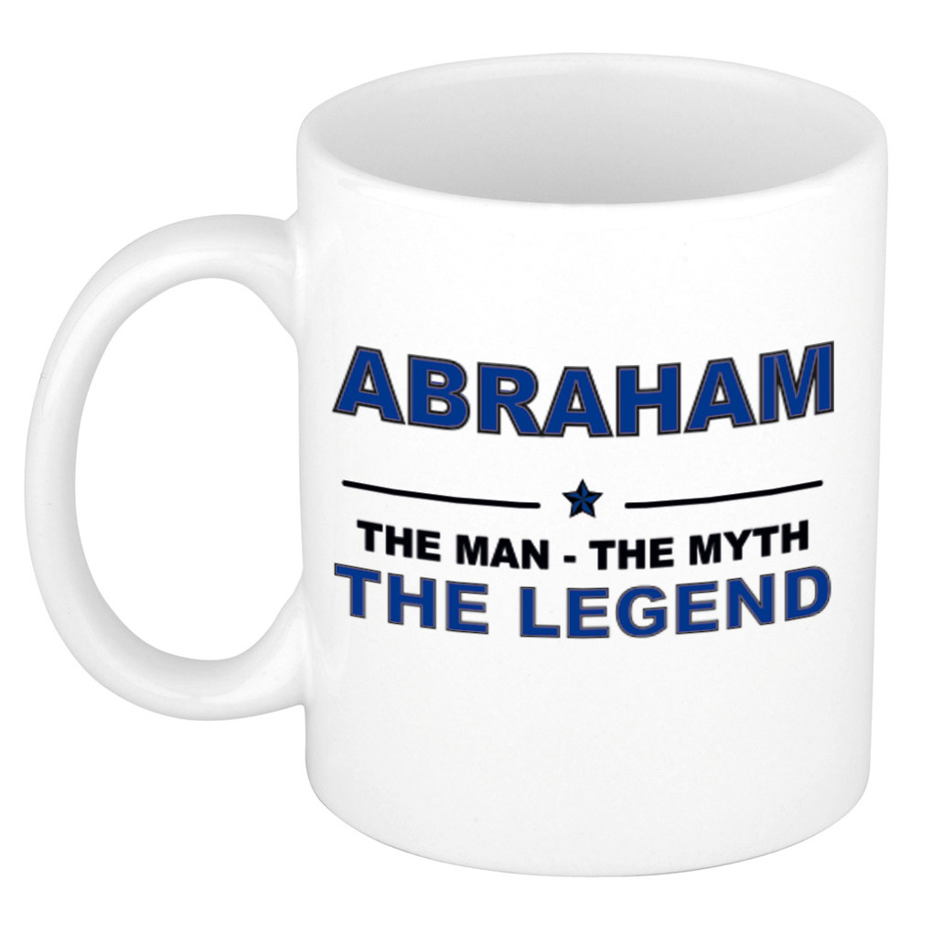 Abraham The man, The myth the legend cadeau koffie mok - thee beker 300 ml